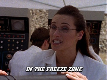 "Title Card for ""In the Freeze Zone""."