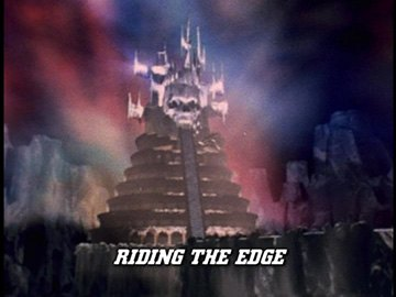 "Episode Title Card for ""Riding the Edge""."