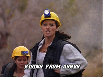 "Title Card for ""Rising from Ashes""."