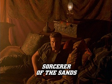 "Title Card for ""Sorcerer of the Sands""."
