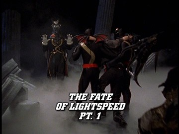 "Title Card for ""The Fate of Lightspeed Pt. 1""."
