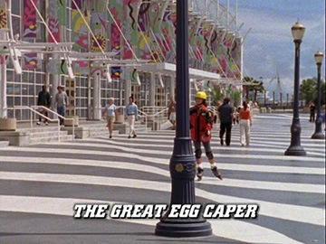"Title Card for ""The Great Egg Caper""."