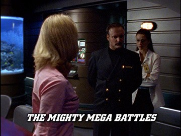 "Title Card for ""The Mighty Mega Battles""."