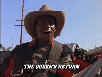 "Title Card for ""The Queen's Return""."