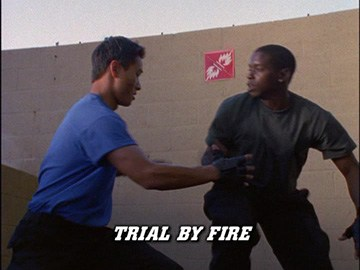 "Title Card for ""Trial by Fire""."