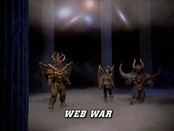 "Title Card for ""Web War""."