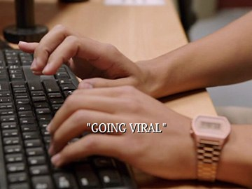 "Title Card for ""Going Viral""."