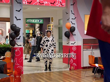 "Title Card for ""Raising Spirits""."