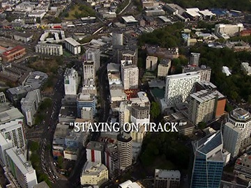 "Episode Title Card for ""Staying on Track"""