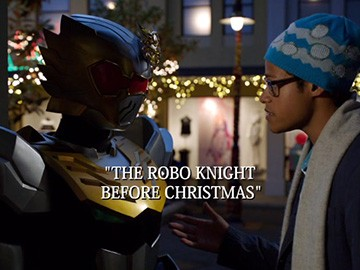 "Title Card for ""The Robo Knight Before Christmas""."