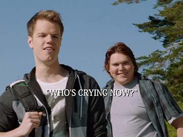 "Title Card for ""Who's Crying Now?""."
