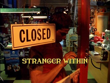 "Title Card for ""Stranger Within""."