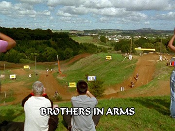 "Title Card for ""Brothers in Arms""."