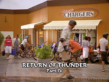 "Title Card for ""Return of Thunder Part IV""."