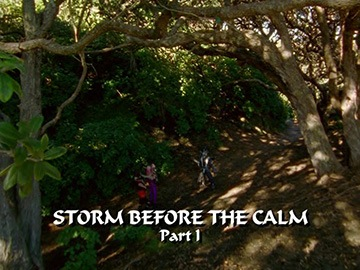"Title Card for ""Storm Before the Calm Part I""."