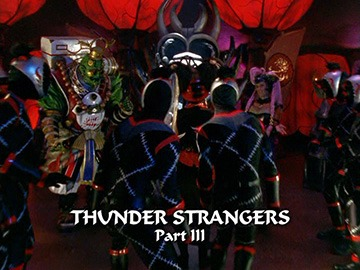 "Title Card for ""Thunder Strangers Part III""."