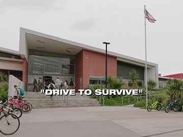"Episode Title Card for ""Drive to Survive""."