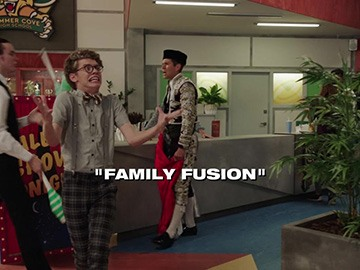 "Title Card for ""Family Fusion""."