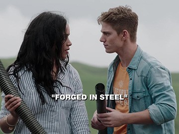 "Title Card for ""Forged in Steel""."