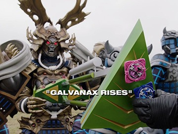 "Title Card for ""Galvanax Rises""."