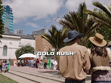 "Title Card for ""Gold Rush""."