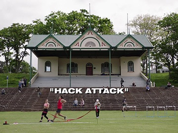 "Title Card for ""Hack Attack""."