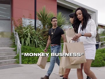 "Title Card for ""Monkey Business""."