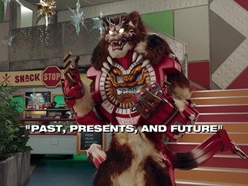"Title Card for ""Past, Presents, and Future""."