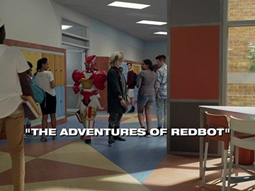 "Title Card for ""The Adventures of Redbot""."