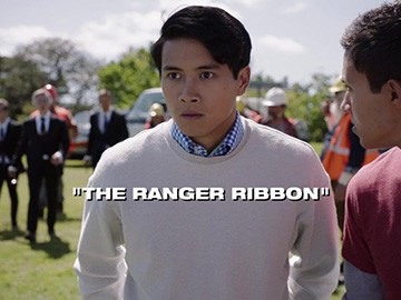 "Title Card for ""The Ranger Ribbon""."