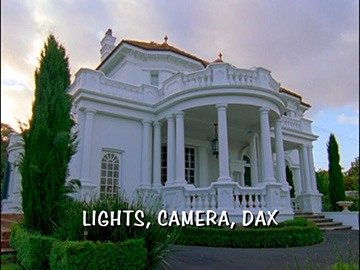 "Title Card for ""Lights, Camera, Dax""."