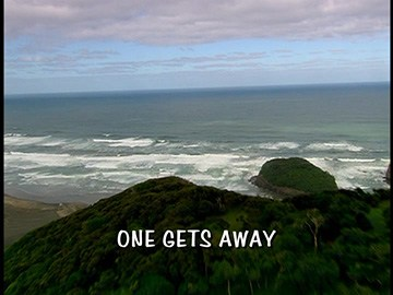 "Episode Title Card for ""One Gets Away"""