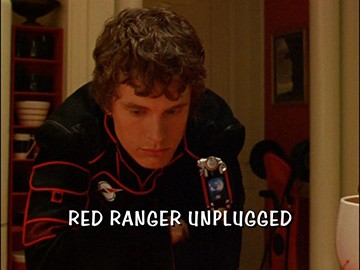 "Title Card for ""Red Ranger Unplugged""."