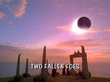 "Title Card for ""Two Fallen Foes""."