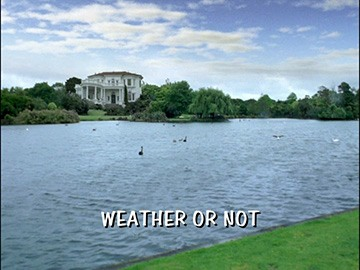 "Episode Title Card for ""Weather or Not""."