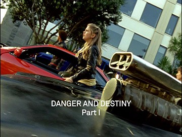 "Title Card for ""Danger and Destiny Part I""."