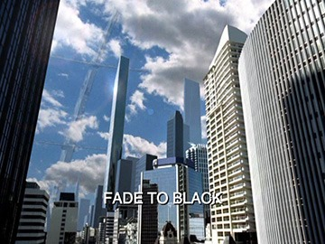 "Title Card for ""Fade to Black""."
