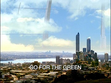 "Title Card for ""Go for the Green""."