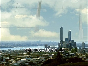 "Episode Title Card for ""Heroes Among Us""."