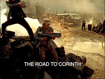 "Title Card for ""The Road to Corinth""."