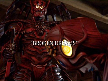 "Episode Title Card for ""Broken Dreams""."