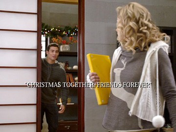 "Title Card for ""Christmas Together, Friends Forever""."