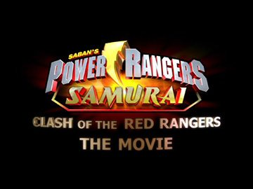"Episode Title Card for ""Clash of the Red Rangers: The Movie""."