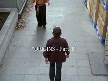 "Episode Title Card for ""Origins - Part 1""."