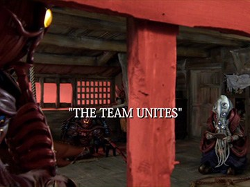 "Episode Title Card for ""The Team Unites""."