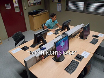"Episode Title Card for ""Earth Fights Back"""