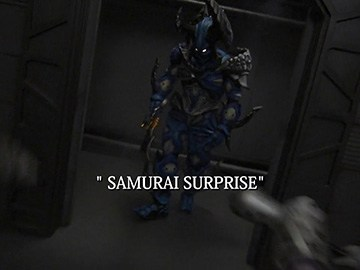 "Title Card for ""Samurai Surprise""."