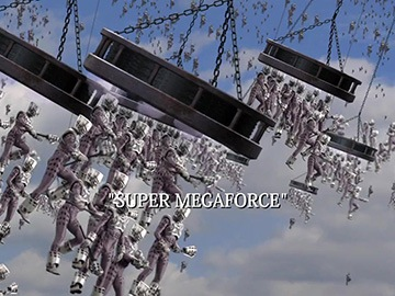 "Title Card for ""Super Megaforce""."