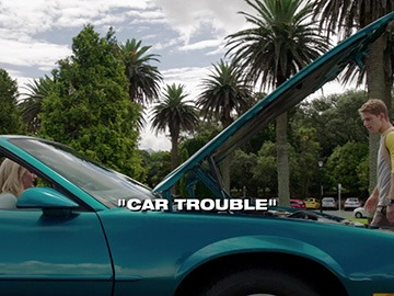 "Title Card for ""Car Trouble""."