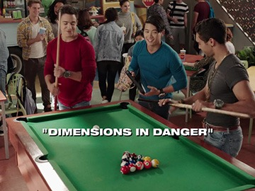 "Title Card for ""Dimensions in Danger""."